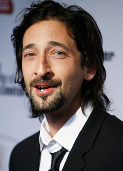 Adrien Brody with his silly beard