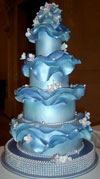 Blue Wedding Cake by Chris Arrakeen