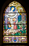 Catholic stained-glass windo