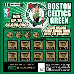 Celtics lottery ticket