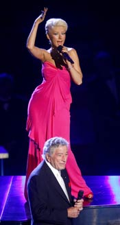 Christina Aguilera and Tony Bennett