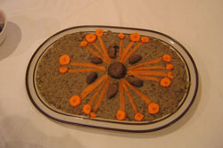 chopped liver with nice decorations