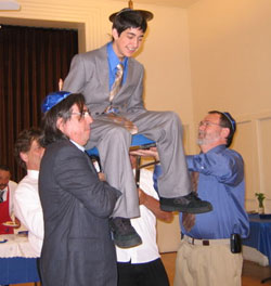 Levi at his bar mitzvah