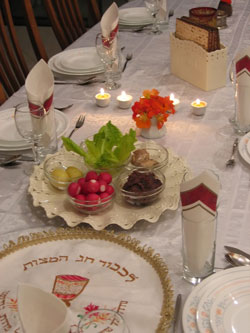 Seder Table by Ron Almog