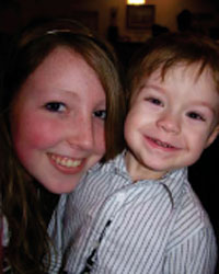 Gabbie Wynschenk and nephew