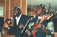 Gershom Sizomu performing