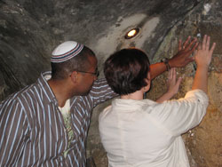 Johnsons at the Kotel