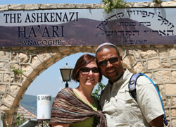 the Johnsons in Tzfat