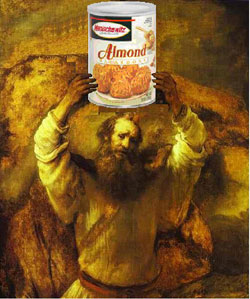 Moses by Rembrandt, macaroons by Manischewitz