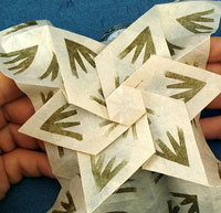 origami six pointed star by Eric Gjerde