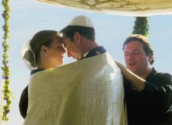 Lev Baesh officiating at a wedding