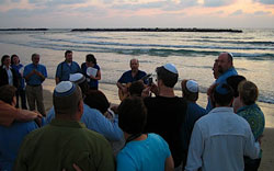 Shabbat on the beach in Tel Aviv