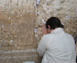 Shira Johnson at the Western Wall in Jerusalem