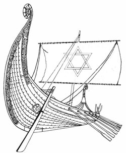Viking Ship with Magen David