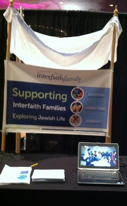 The InterfaithFamily chuppah booth at the bridal expo last night.