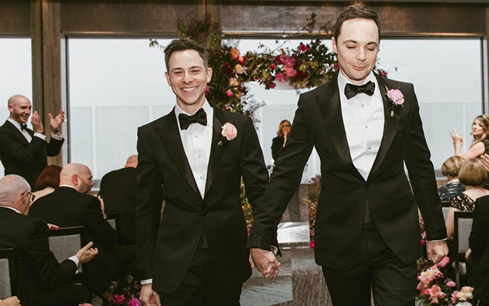 Jim Parsons and Todd Spiewak got married in the Rainbow Room