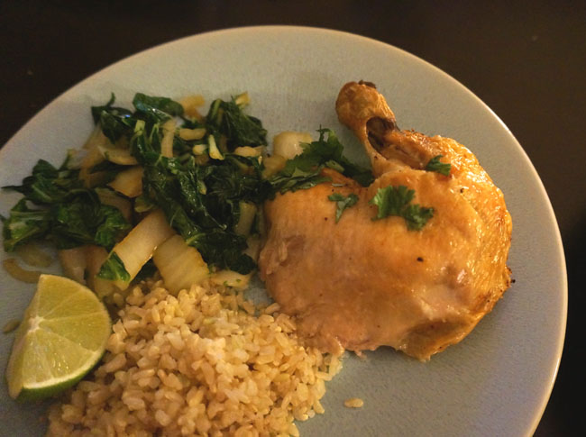 Chicken with Bok Choy
