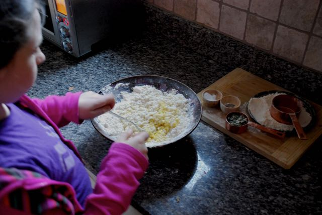 making gnocchi with Isabelle