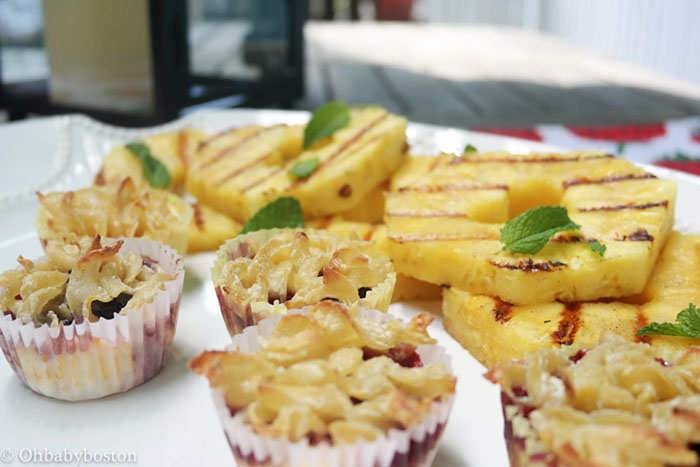 summer kugel with pineapple