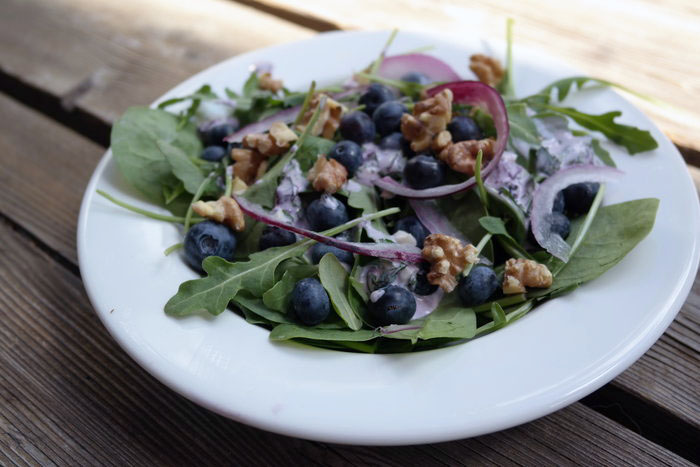 Summer Blueberry Salad with Blueberry Ranch