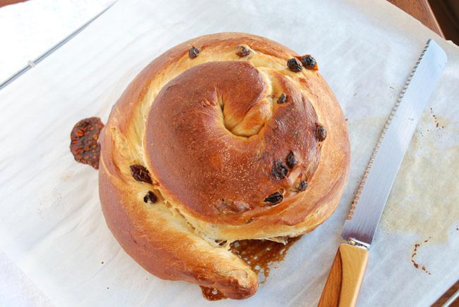 Rosh Hashanah Cinnamon Roll Challah with an Italian Twist