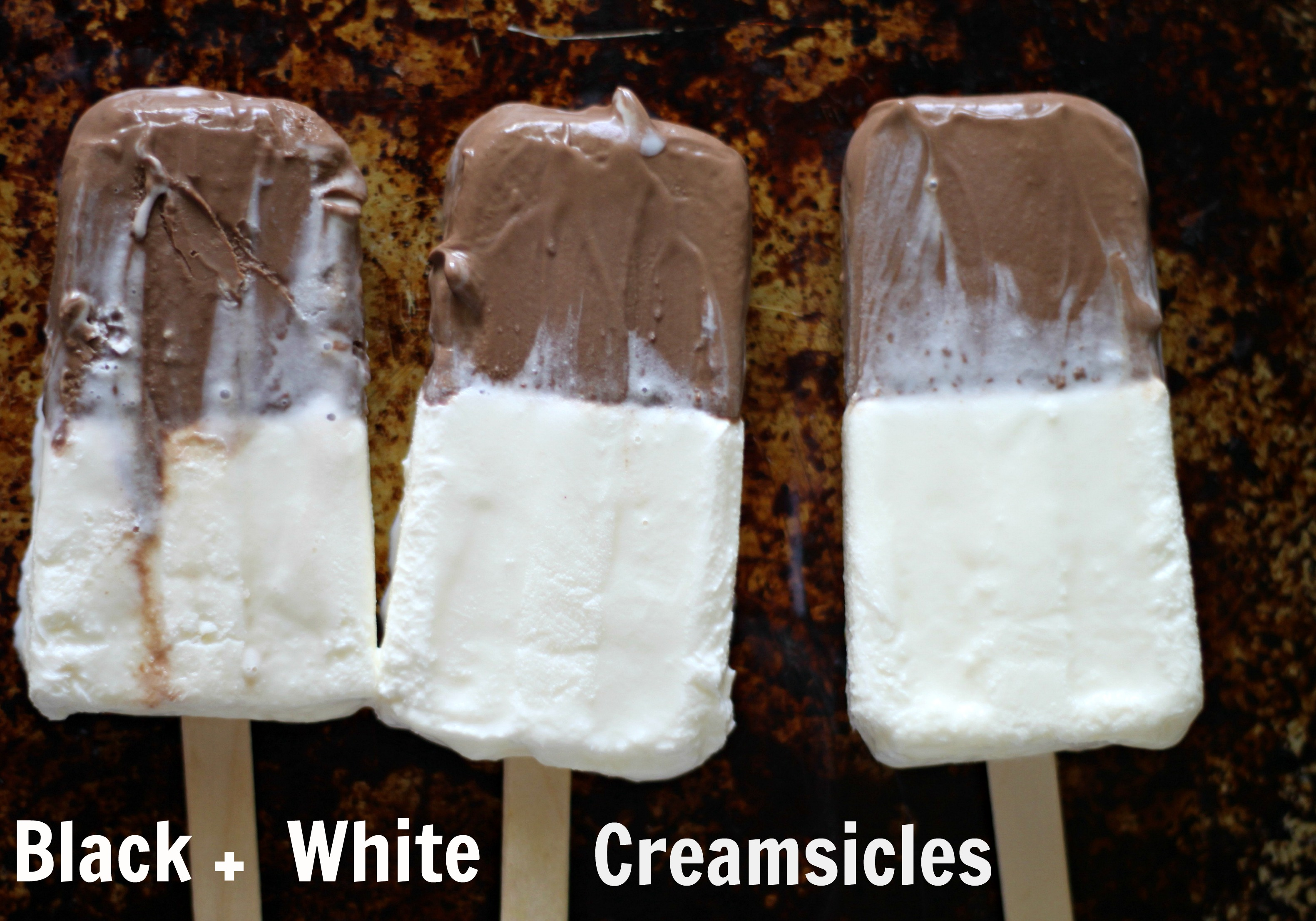 Black + White Creamsicles