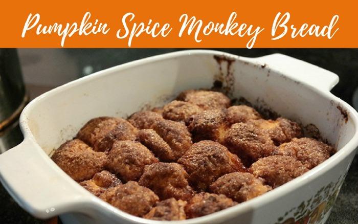 Pumpkin Spice Monkey Bread with Applesauce Glaze