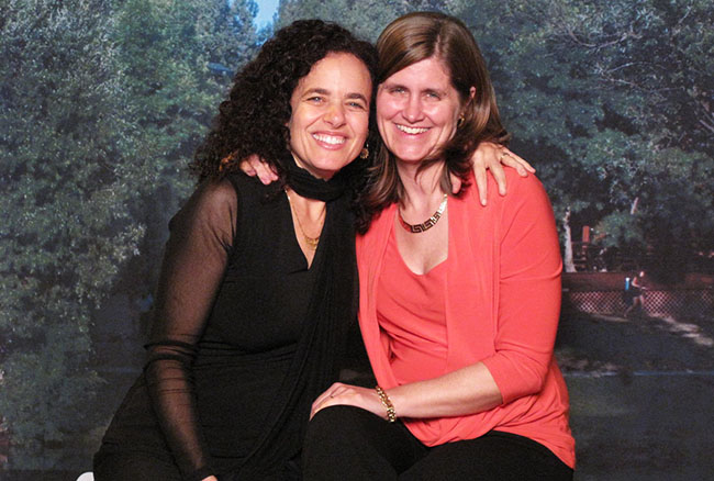 Rabbi Mychal and her wife - Proud to be LGBTQI and interfaith