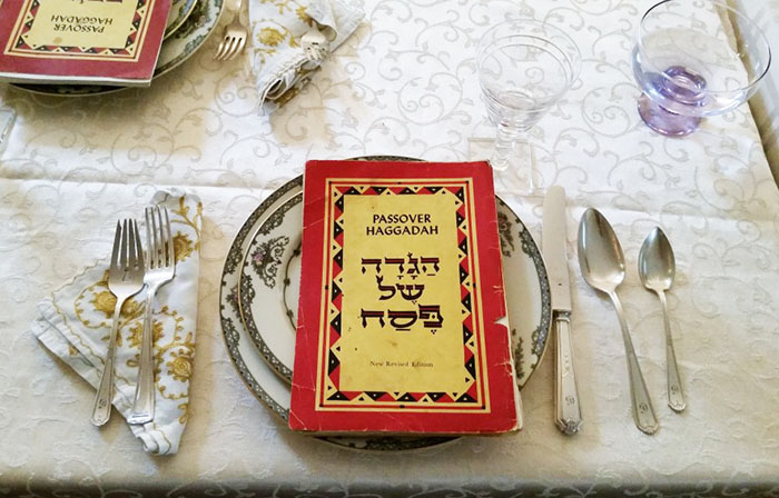 Anna's Passover table