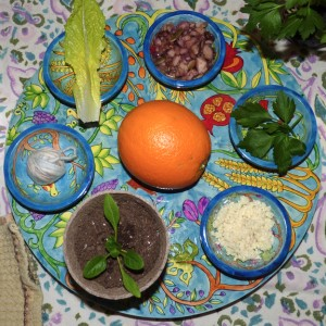 Interfaith-Humanist-Vegan Seder Plate