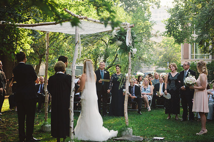 Brandon & Emily under the chuppah