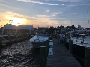 picture of boats docked at dusk