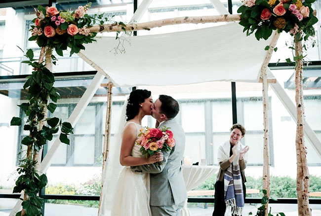 "Chuppah - the first ""home"" for the engaged couple"