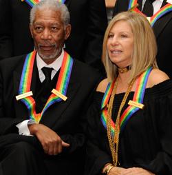 Morgan Freeman and Barbra Streisand