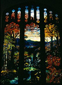 Tiffany window at Metropolitan Museum of Art