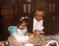Rachel Mauro with her Nana in 1989
