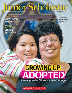 Junior Scholastic cover on Chinese Jewish bat mitzvah