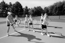 Tennis at Camp Tevya