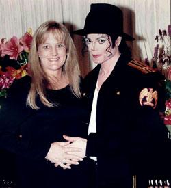 Deborah Rowe and Michael Jackson 1996
