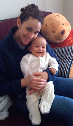 Heather Subba with her baby