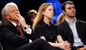 Bill Clinton, Chelsea Clinton, Mark Mezvinsky