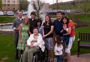 Pat Yackley and grandchildren