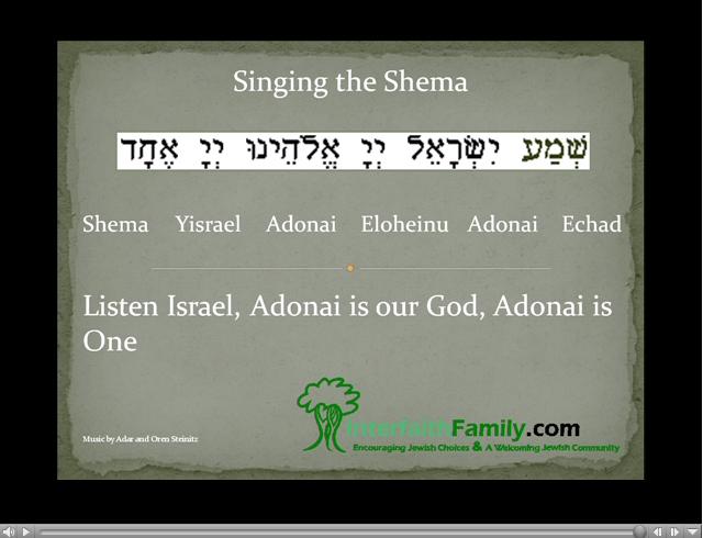 Singing the Shema - InterfaithFamily