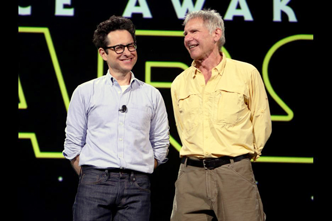 JJ Abrams and Harrison Ford Star Wars