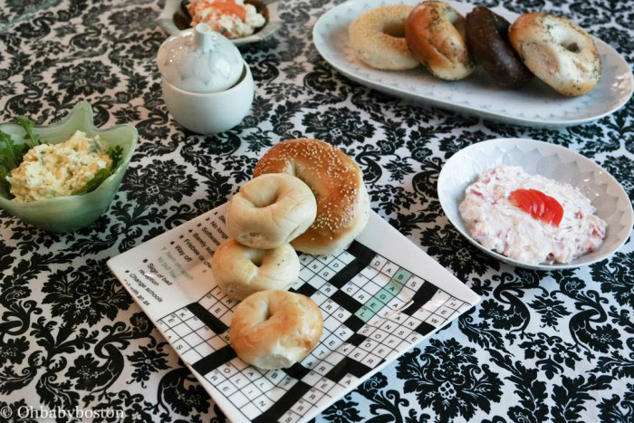 bagels and schmears for shavuot