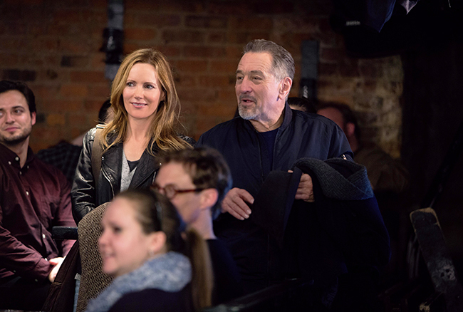 Leslie Mann and Robert DeNiro in The Comedian