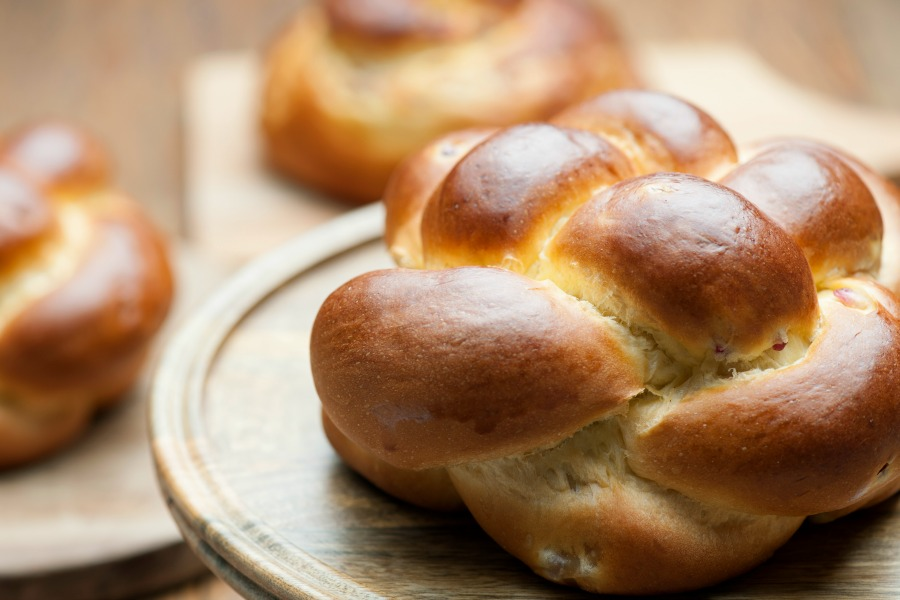 Challah is a special Jewish braided bread eaten on Sabbath and holidays.