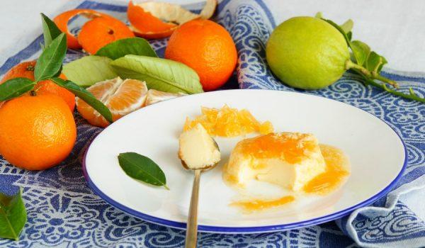 Orange flan