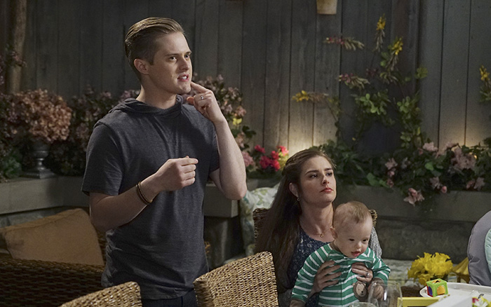 Lucas Grabeel and Rachel Shenton in Switched at Birth