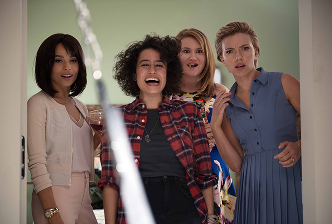 Scarlett Johansson with Kate McKinnon, Jillian Bell, Ilana Glazer and Zoe Kravitz in Rough Night